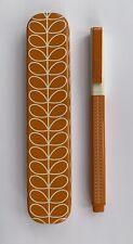 More details for bnib orla kiely orange stem printed ballpoint pen in gift tin black ink rrp £30