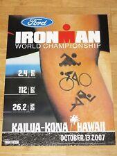 Ironman 2007 Hawaiian Poster Original - Triathlon New/Original Vintage in Mint