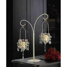 10 WHITE CHANDELIER CANDLE HOLDERS,METAL,WEDDING CENTERPIECES,GIFT,WHOLESALE LOT