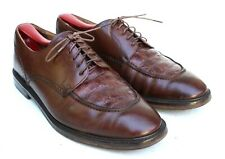 Mezlan Georgetown Brown Leather Genuine Crocodile Toe Oxford Dress Shoe SZ 7M