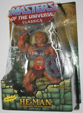 HE MAN MOTUC CLASSICS HEMAN W/ZOLOWORLD CASE & WHITE BOX #N6444 MINT ON CARD