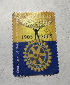 Stamp - Australia 50c Rotary International 1905-2005 #50