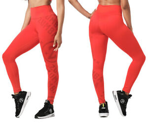 Zumba Smiles High Waisted Ankle Leggings - Cherry Red ~ XS, S, M, L, XL ~ New!