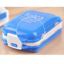 Travel Weekly Medicine Tablet Holders Organizer Dispenser Case Pill Box Blue B²