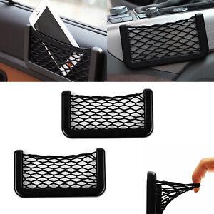 2 x Car Storage Pocket elastic Net Cigarette Wallet Phone Holder Organiser Bag