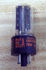 RCA 5Y3GT NOS Rectifier Tube Red Print 12/65 AW Tested Quanity