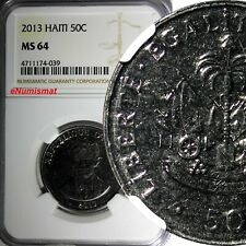 Haiti 2013 50 Centimes NGC MS63 Charlemagne Peralte KM# 153a