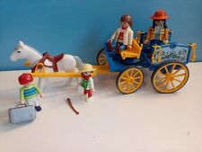 sympa caleche 3117  playmobil ( ferme  , animaux , famille  ) 0600
