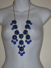 J.Crew XL Yellow Bubble necklace NIP $150 Blue
