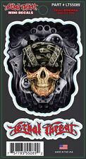 Lethal Threat Skull Bandana Mini Decal - 2 decals per package fnt