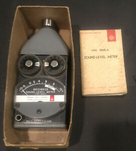 General Radio Co. Type 1565-A Sound-level Meter w/ Indtructions