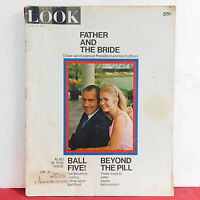 Father and the Bride Look Magazine Richard Nixon Jim Bouton June 15 1971 RARE!