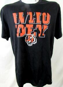 """Cincinnati Bengals Mens L XL or 2XL Screened Bengals """"WHO DEY"""" T-shirt ACIB 156"""