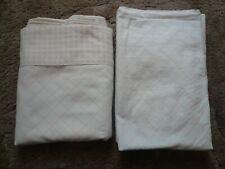Vintage DanRiver Dan River Bedding Sheet Set Fitted & Flat No Iron Muslin