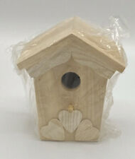 "Home Masters 5 1/2"" Wooden DIY Bird House NWT"