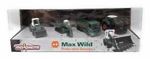 Majorette Max Wild Construction Set 4 modèles Gift Set MAN Liebherr métal