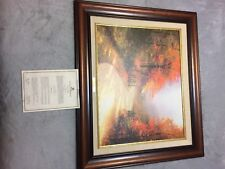 Thomas Kinkade Autumn Lane Canvas And Frame Included Certificate