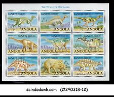 ANGOLA - 1998 THE WORLD OF DINOSAURS - MINIATURE SHEET MNH