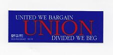 'United We Bargain, Divided We Beg' Hard Hat Stickers, 8 for $8! Free Shipping!