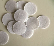 New White 40mm/25mm Felt Circle Round Appliques Pads For Flower Craft Sewing