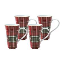222 FIFTH Wexford Plaid Tall Latte Mugs coffee tartan hot chocolate