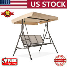 3 Person Patio Swing Outdoor Canopy Awning Garden Yard Furniture Hammock Steel