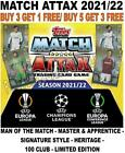 MATCH ATTAX 2021/22 21/22 CHAMPIONS LEAGUE 100 CLUBS/ LIMITED/ SUBSETS/ FESTIVE