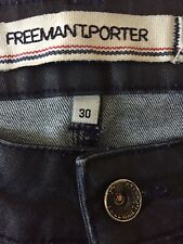 Freeman T Porter Ladies 'Dixie' Jeans Size 30 Deep Blue Made In France