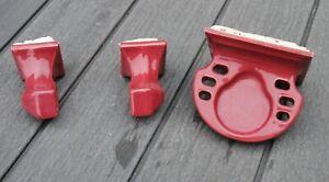 Vtg Tile-in Cup Toothbrush holder towel bar Porcelian Ceramic T'ang Red 1957