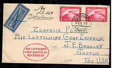 1931 Germany Graf Zeppelin Cover Hannover Flight to Austin Texas USA