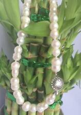 "New 10-16MM Rare white BAROQUE CULTURED PEARL NECKLACE 18"" AAA"