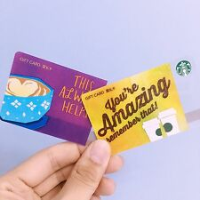 New 2016 China Starbucks This always helps& You Are Amazing Gift Card  (RMB100)