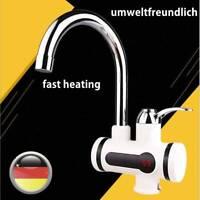 360° Elektrisch Wasserhahn LED Display Durchlauferhitzer Badarmatur 220V 3000W