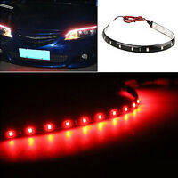 2x RED LED Strip Light 30cm Spoiler Flexible Car Rear Brake High Stop Lights
