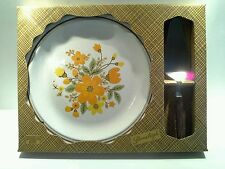 Vintage Nikko Japan Stoneleigh Cake Serving Plate and Knife