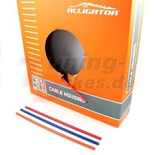 Alligator Bremszug Außenhüllen - Rot - Weiß - Orange - Blau - 5mm - 1 Meter