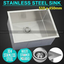 510x450mm Handmade Stainless Steel Undermount / Topmount Kitchen Laundry Sink AU