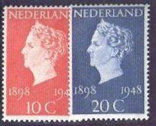 Nederland Netherlands 504-505 Koningin Wilhelmina 1948 luxe postfris/mnh