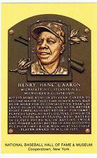 Baseball Hall of Fame Postcard Hank Aaron Atlanta Milwaukee Braves Home Run HOF