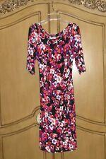 MSK black, orange, purple FLORAL JERSEY DRESS~ NWT SZ.14