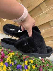 Ugg Fluffy Cross Slides slippers eur 39 uk 6
