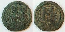 Byzanz Justinus II. 565-578 n.Chr (3) Bronze Follis Theoupolis J. 575/576 s-ss