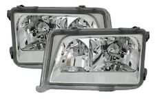 Clear chrome finish headlight set with NSW for Mercedes E-Class W124 84-93