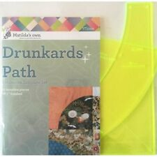 "Matildas Own 8.5"" Block Drunkards Path Patchwork Template Set"