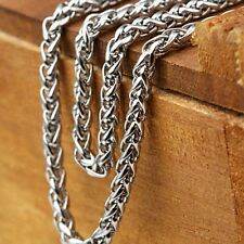 "Men's/Women's Necklace Stainless Steel 24"" Link Rope 4MM Chain Fashion Jewelry"