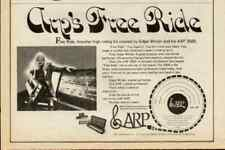 1974 EDGAR WINTER FREE RIDE ARP 2600 SYNTHESIZER AD