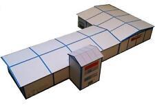 TT Gewerbehalle Fertigmodell, mit Verwaltung  Kartonmodell B-WARE aus Musterbau
