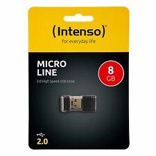 Mini Clé USB 8Go 8Gb Intenso Micro Line 8 Go Gb idéal pour autoradio Mp3 promo