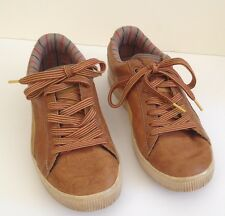 Leather And Suede Puma's Caramel Brown 9 Striped Laces