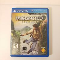 Playstation PS Vita Game - Uncharted: Golden Abyss with Case Tested Works Great